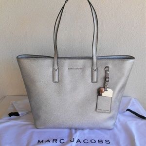 MARC JACOBS 'Sidekick' Metallic Tote